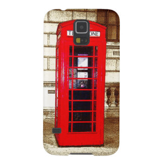 London Phone Box (poster edge effect) Galaxy S5 Covers