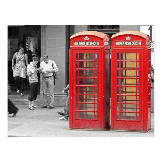 London Phone Boxes Postcard