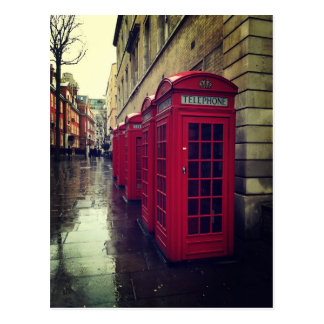 London phone boxes postcard
