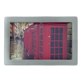 London phone boxes rectangular belt buckles