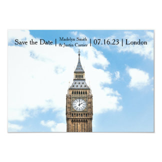 London Photo - 3x5 Save the Date Card