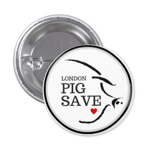 LONDON PIG SAVE LOGO BUTTON