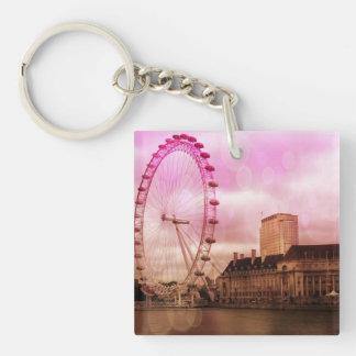 london,pink effekt.jpg square acrylic key chains