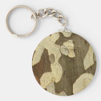 London Plane Tree Bark Key Ring