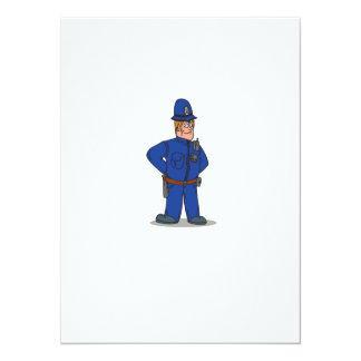 London Policeman Police Officer Cartoon 14 Cm X 19 Cm Invitation Card