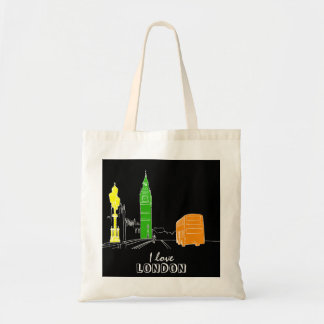 London Pop Art Neon Colors Vibrant Cool Modern Tote Bag