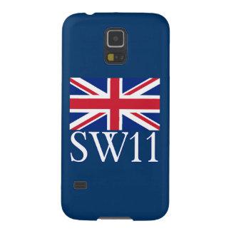 London Postcode SW11 with Union Jack Samsung Galaxy Nexus Cases