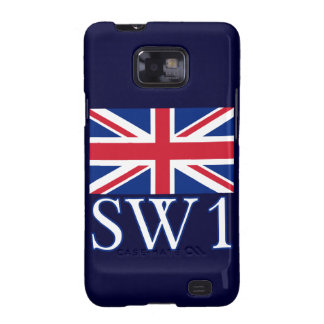 London Postcode SW1 with Union Jack Samsung Galaxy S2 Covers