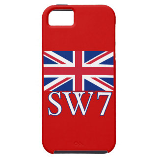 London Postcode SW7 with Union Jack iPhone 5 Case