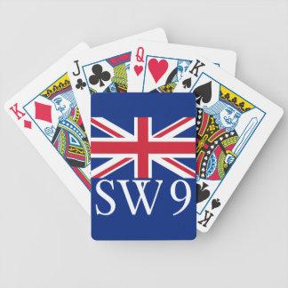 London Postcode SW9 with Union Jack Poker Deck