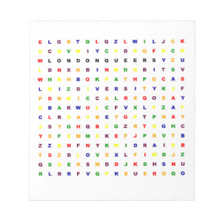 London Queers Wordsearch Notepad