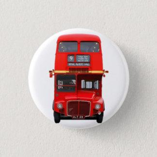 London Red Bus 3 Cm Round Badge