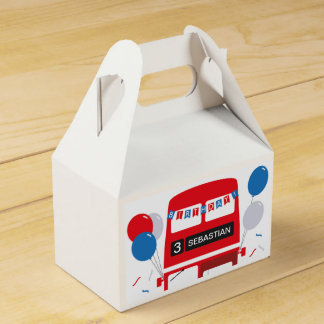 London Red Bus Personalised Favour Box