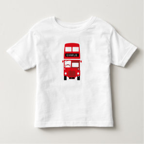 London Red Bus Personalised Kids T-Shirt
