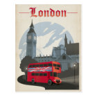 London - Red Bus Postcard