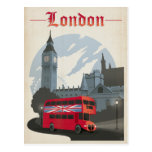 London - Red Bus Postcard