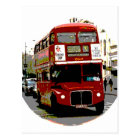 London Red Bus Routemaster Buses Postcard