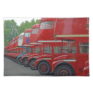 London red buses placemat
