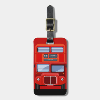 London Red Double Decker Bus Traveler Luggage Tag