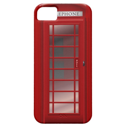 London Red Phone Booth Box iPhone 5 Cover