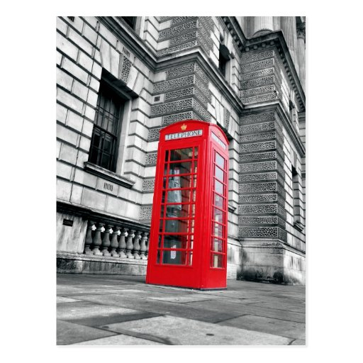 London Red Phone Booth Postcard