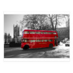 London Red Routemaster Bus Postcard