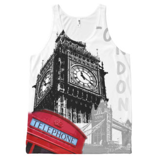 London red telephone big ben pop art All-Over print tank top