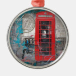 London red telephone booth Landmark Vintage Ornaments