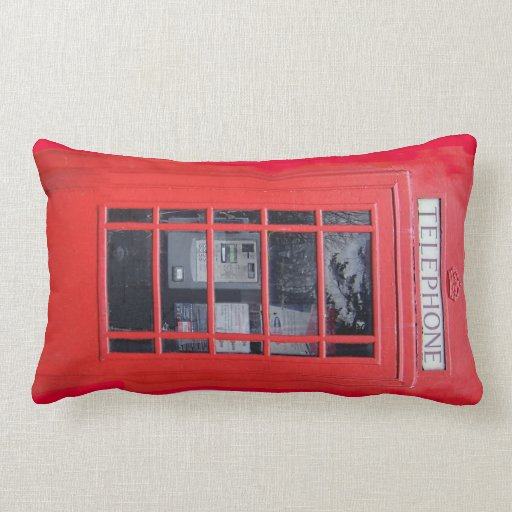 London Red Telephone Box Pillows
