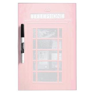 London Red Telephone Box Dry Erase Board