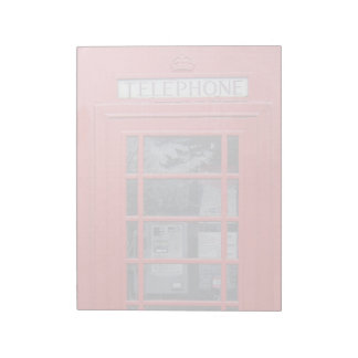 London Red Telephone Box Notepad