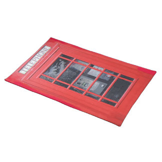 London Red Telephone Box Placemat