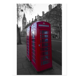 London Red Telephone box Postcard