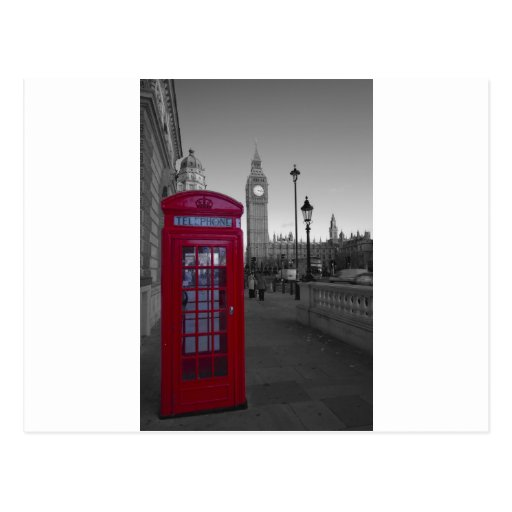 London Red Telephone box Post Card