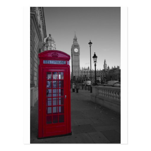 London Red Telephone box Postcards