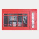 London Red Telephone Box Rectangular Sticker