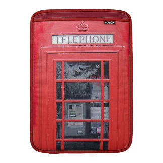London Red Telephone Box Sleeve For MacBook Air