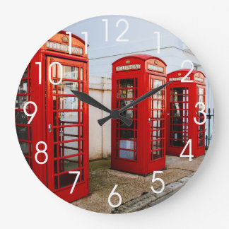 London Red Telephone Boxes, Photograph Clock