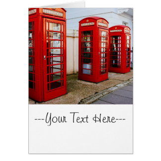 London Red Telephone Boxes, Photograph Greeting Card