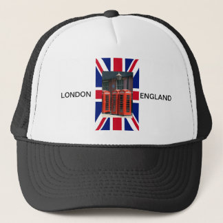 London Red Telephone Boxes Trucker Hat