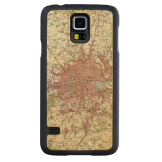 London Region Map Carved Maple Galaxy S5 Case