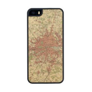 London Region Map Carved® Maple iPhone 5 Slim Case
