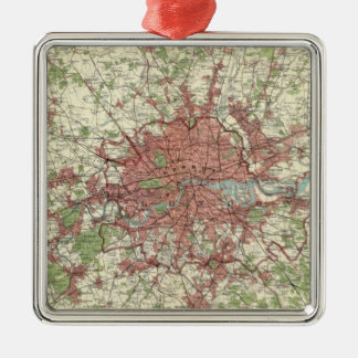 London Region Map Christmas Ornament