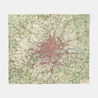 London Region Map Fleece Blanket
