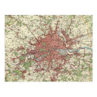 London Region Map Postcards