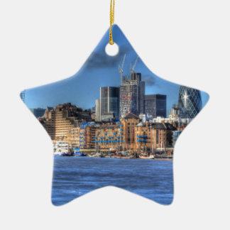 London River views Christmas Ornament