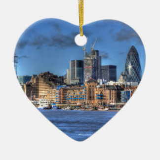 London River views Christmas Ornament