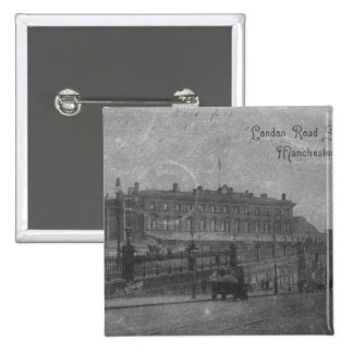 London Road Station, Manchester, c.1910 15 Cm Square Badge