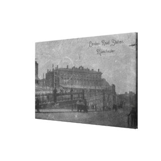 London Road Station, Manchester, c.1910 Canvas Print