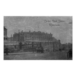 London Road Station, Manchester, c.1910 Poster